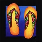 Hawaii Thongs by Mary Naylor art print