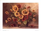 Sunflower Bouquet by Barbara Mock art print
