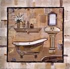 Vintage Bath Time II by Kate and Liz Pope art print