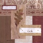 Scrapbook Oak Leaf by Carol Robinson art print