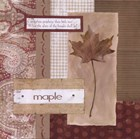Scrapbook Maple Leaf by Carol Robinson art print