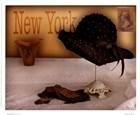 New York Hat by Judy Mandolf art print
