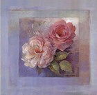 Roses on Blue I by Peter McGowan art print