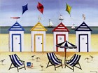 Beach Houses by Katharine Gracey art print