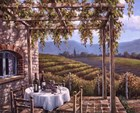 Vineyard Terrace by Sung Kim art print