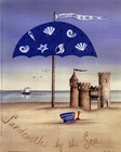 Sandcastles By The Sea by Katharine Gracey art print