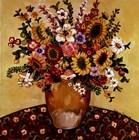 Golden Vase Floral by Suzanne Etienne art print