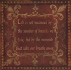 Life Is Not Measured by Jo Moulton art print