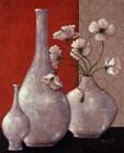Silverleaf And Poppies I by Janet Kruskamp art print