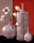 Silverleaf And Poppies II by Janet Kruskamp art print