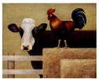 Barnyard Cow by Lowell Herrero art print