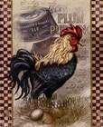 True Blue Rooster by Alma Lee art print