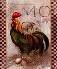 Green Pastures Rooster by Alma Lee art print