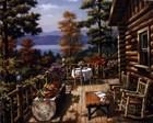 Log Cabin Porch by Sung Kim art print