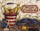 Blue Crabfest by Kate McRostie art print