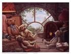 Bears In The Attic by Janet Kruskamp art print
