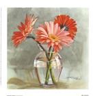 Tangerine Gerbera by Mary Kay Krell art print