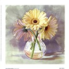 Lemon Sherbert Gerbera by Mary Kay Krell art print