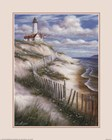 Lighthouse with Deserted Beach by T.C. Chiu art print