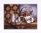Pewter Tea Set with Apples by T.C. Chiu art print