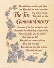 The Ten Commandments by Carol Tribou art print