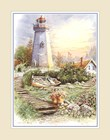 Lighthouse with Boat art print
