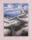 Lighthouse with Sand Dunes by T.C. Chiu art print