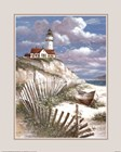 Lighthouse with Deserted Canoe by T.C. Chiu art print