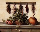 Hanging Dried Herbs by T.C. Chiu art print