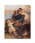 Fisherman with Children art print