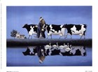 Delta Cows by Lowell Herrero art print