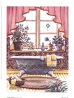 Vintage Bathtub l by Janet Kruskamp art print