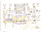 Yellow Tub by Lissi Kaplan art print