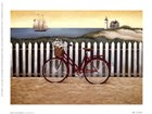 Cycle To The Beach by Lowell Herrero art print