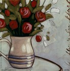 White Pitcher Bouquet by Maria Eva art print