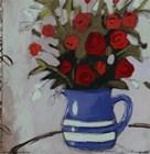 Blue Pitcher Bouquet by Maria Eva art print