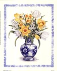 Daffodils and Tulips by Bambi Papais art print